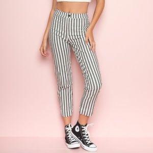 Brandy Melville Striped Tilden Pants